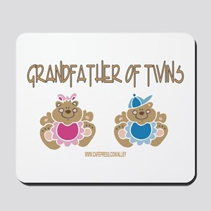 Grandfather Of Twins- Boy/Girl Mousepad